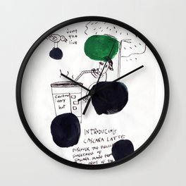 Coffee boy Wall Clock