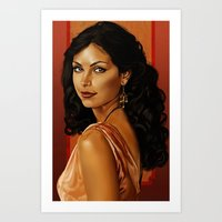 Girl with a Shiny Earring Art Print