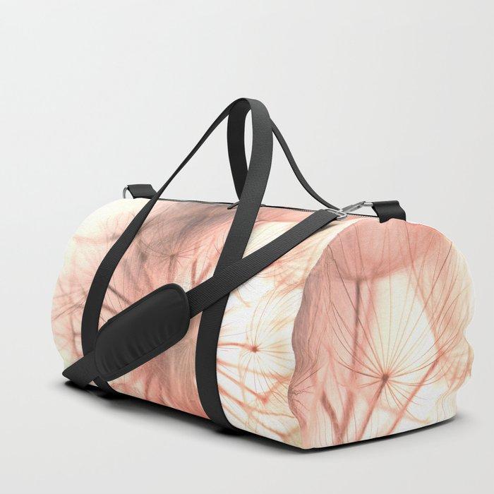 Pink Dandelion Macro Nature Photography Art and Apparel Duffle Bag