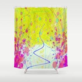 Barnsley Wisteria Day Glow Shower Curtain