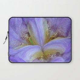 Purple Iris in Pencil Sketch 0174 Laptop Sleeve