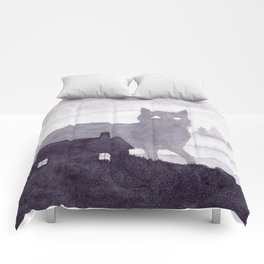 The Evening of Giant Cats Comforters