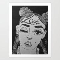 fka twigs Art Prints featuring FKA TWIGS by cassandralitten