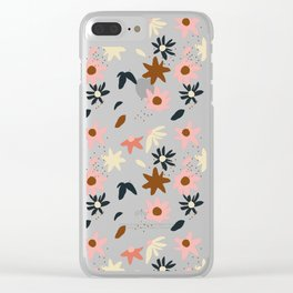 Fall flowers pattern Clear iPhone Case