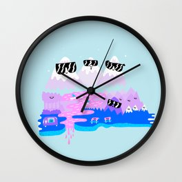 Bad Ass Mountains - Happy Wall Clock
