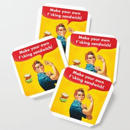 Make your own f*cking sandwich! Coaster