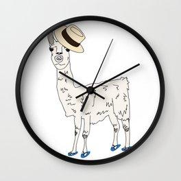 Bahama Llama Wall Clock