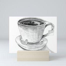 My Cup of Roasted Grey Mini Art Print