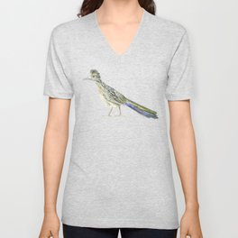 Roadrunner Watercolor Unisex V-Neck