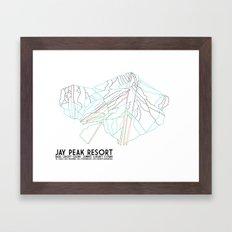 Jay Peak, VT - Minimalist Trail Art Framed Art Print