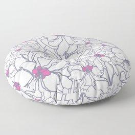 Pink Peony Garden Floor Pillow