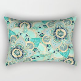 Gilded Emerald Enamel Rectangular Pillow
