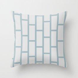 Grey on Gray Brick Throw Pillow