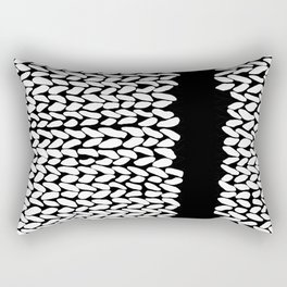 Missing Knit On Side Rectangular Pillow