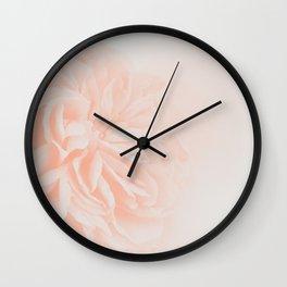 Light Peach Rose #3 #floral #art #society6 Wall Clock