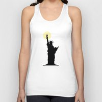 drunk Tank Tops featuring Drunk Liberty by HenryWine