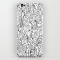 city iPhone & iPod Skins featuring Isometric Urbanism pt.1 by Herds of Birds