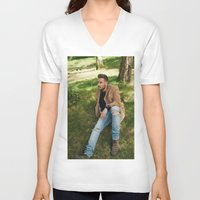 liam payne V-neck T-shirts featuring Liam Payne by behindthenoise