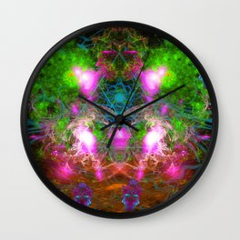 Angels From Twin Worlds Wall Clock