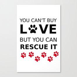 Loving animals Canvas Print