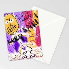keep spirit Stationery Cards