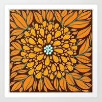 Autumn Floral Art Print