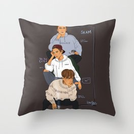 SKAM the Isak(s) Throw Pillow