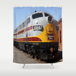Lackawanna Railroad - Engine 664 Shower Curtain