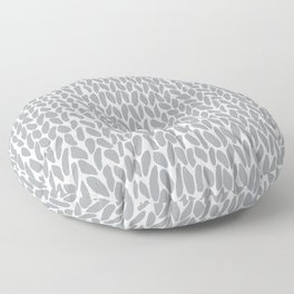 Hand Knit Zoom Grey Floor Pillow