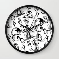numbers Wall Clocks featuring Numbers by M. Noelle Studios