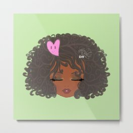Curly Girl Metal Print