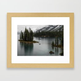 Landscape Photography Maligne Lake Island Framed Art Print