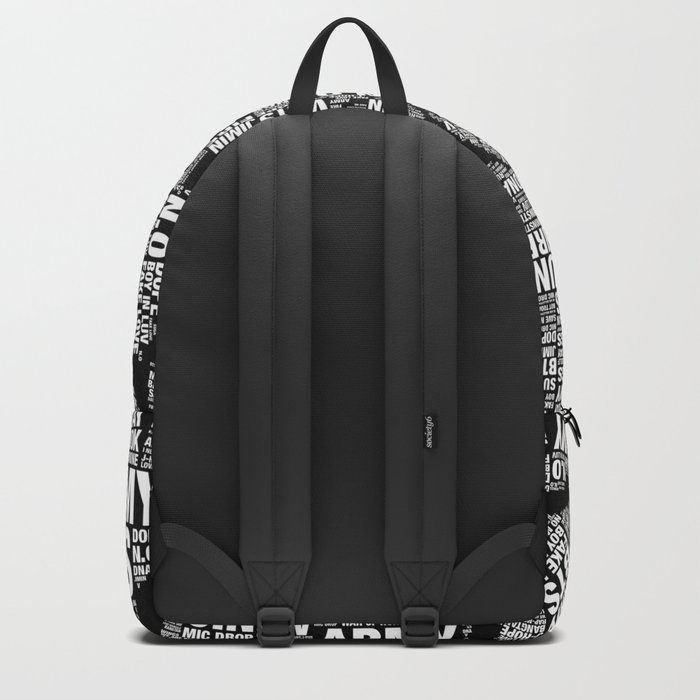 8d0eaee8f51f BTS ARMY Fan Art   Typography Backpack by louche and lovely