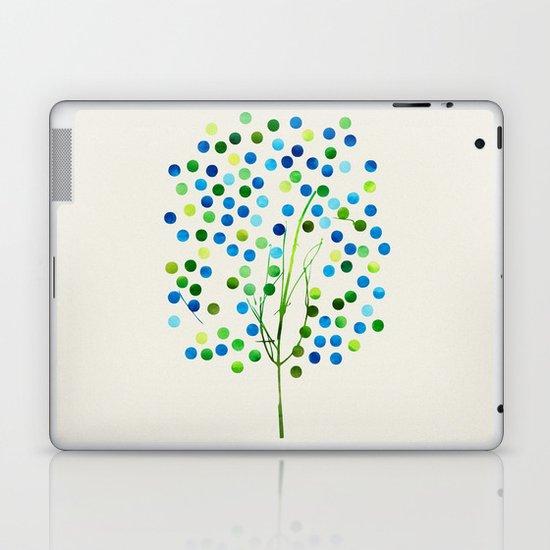 Tree of Life_Aqua by Jacqueline and Garima Laptop & iPad Skin