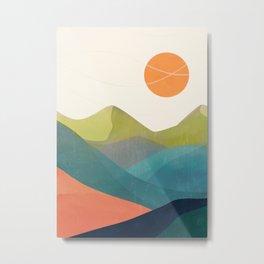 Minimalistic Landscape 17 Metal Print