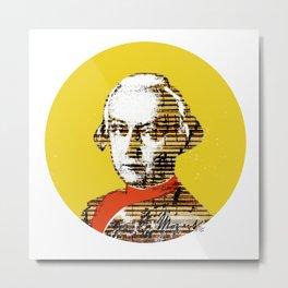 Mozart Kugel Yellow Metal Print