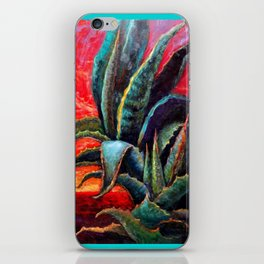 Southwest-western Style Desert Agave in Sunrise iPhone Skin