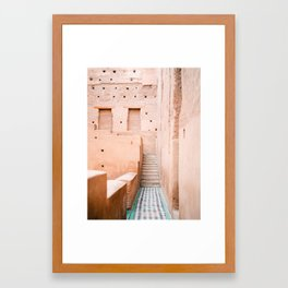 Colors of Marrakech Morocco - El badi palace photo print | Pastel travel photography art Framed Art Print