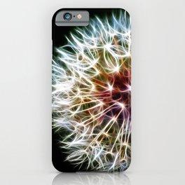 Fractal dandelion iPhone Case