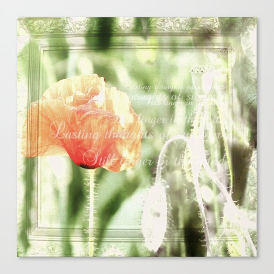Lasting thoughts of summer Canvas Print