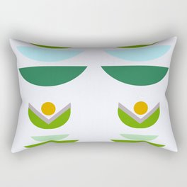 Minimal modern flowers Rectangular Pillow