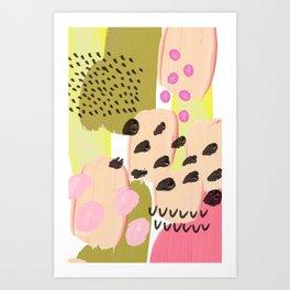 PAINTEDLY PINK Art Print