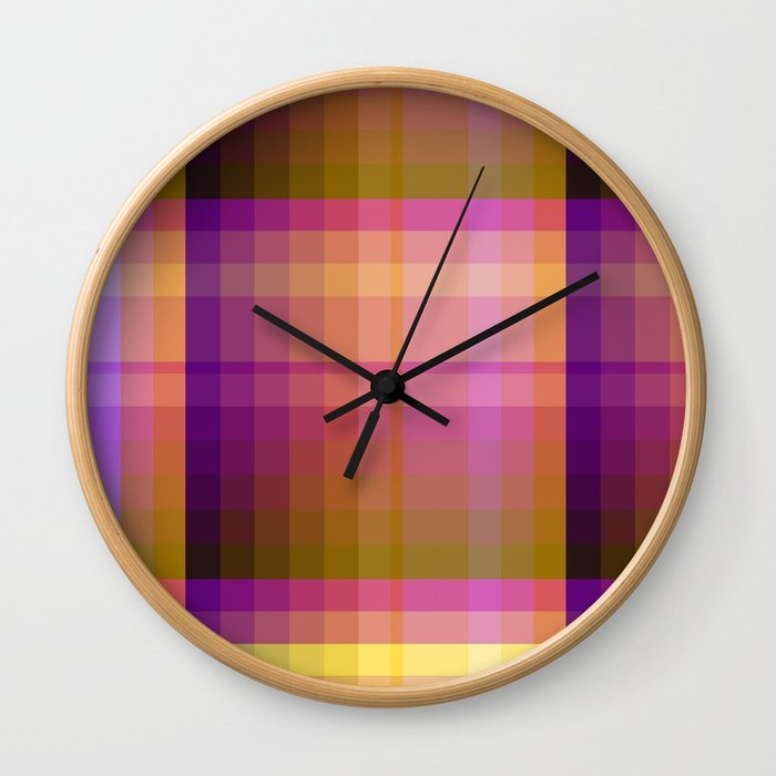 Complimentary Color harmony yellow/purple 2 Wall Clock