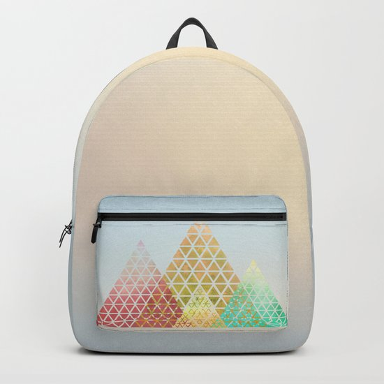Geometric Christmas Trees 2 Backpack