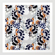 Collage pattern I  Art Print