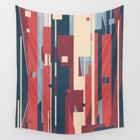 metropolis Wall Tapestries featuring Metropolis by Tracie Andrews