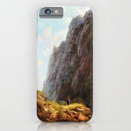 12,000pixel-500dpi - In The Alpine High Valley - Carl Spitzweg iPhone Case