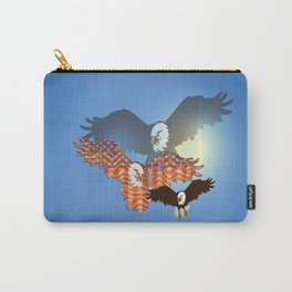 American Eagles Tribute Blue Carry-All Pouch