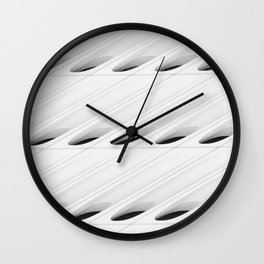 The Broad In the Afternoon Black & White Pattern Photography II Wall Clock