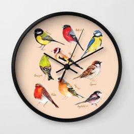Garden Birds Collection Wall Clock